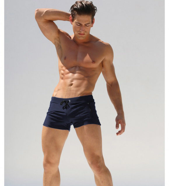 Men Swim Suits Boxer Shorts Trunks