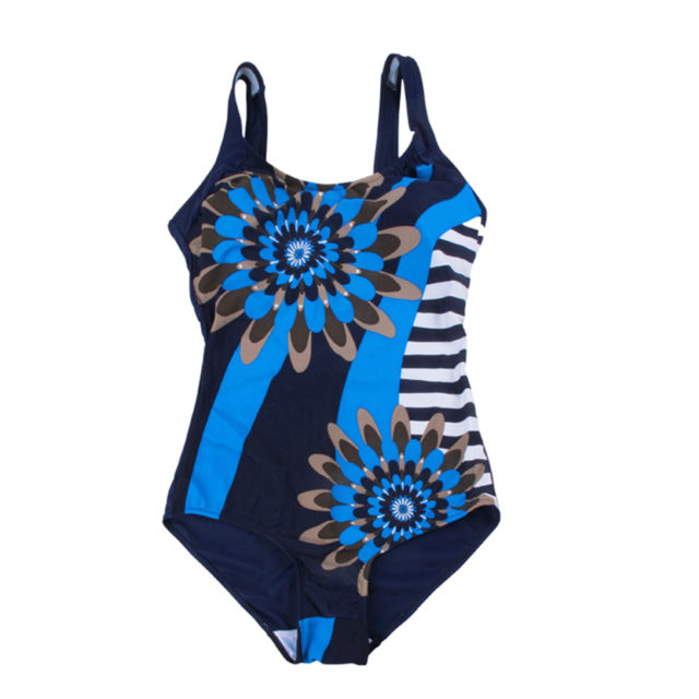 One Piece Sun Flower Print BathingSuit