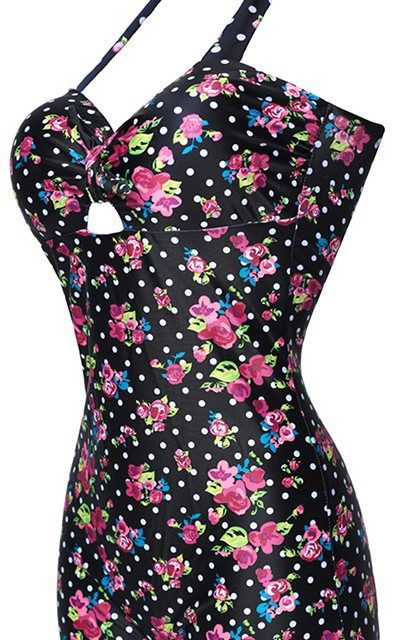 Bow Knot Sweetheart Vintage Style Swimsuit Strappy Plus Size M – 4XL