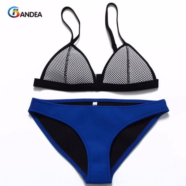 Mesh Swimwear Women Bikini Set Low Waist