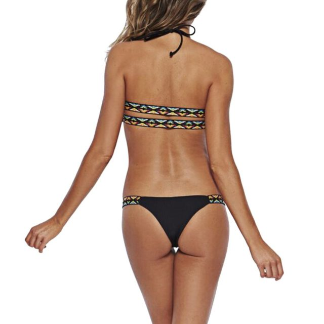 Black Bikini Beach Padded Low Waist Swimsuit