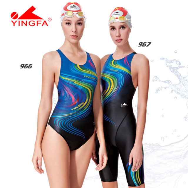 Professional Women Swimsuit One Piece Swimwear Racing Competition